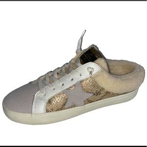 Vintage Havana Mix Gold Snake Sherpa Lined Sneaker